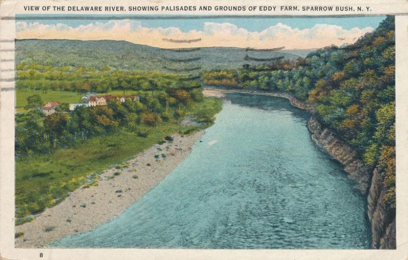 Eddy Farm and Palisades along Delaware River near Sparrow Bush New York pm 1935