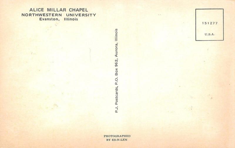 Evanston Illinois~Alice Millar Chapel At Northwestern University~1960 PC