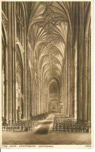 The Nave, Canterbury Cathedral, early 1900s unused Postcard