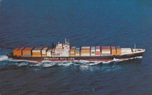 American Mail Line Cargo Ship , 50-60s