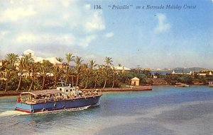 Bermuda Post card Old Vintage Antique Postcard Pricilla on a Bermuda Holiday ...