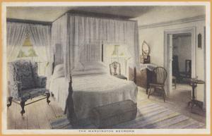 Mt. Vernon, VA., The Washington Bedroom - Copyright 1920, Nt. Vernon Association