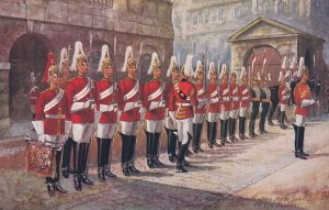 LONDON, England, 1900-1910s; The Military In London, The Four O'Clock Parade,...