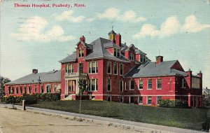 Thomas Hospital, Peabody, Massachusetts, Early Postcard, used in 1916