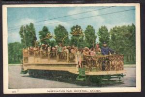 Observation Car Montreal Canada Postcard 4097