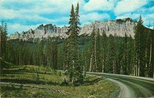 Pinnacle Ridge Owl Creek Range Dubois Tagwotee Pass Wyoming Wy pm 1972 Postcard