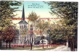 Main Street & Methodist Church, Mt. Kisco