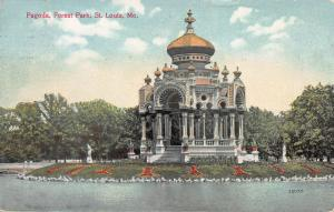 Pagoda, Forest Park, St. Louis, Missouri, Early Postcard, Used in 1909