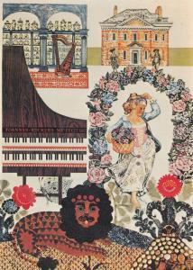 Fenton House Carol Barker London Transport Poster Advertising Postcard