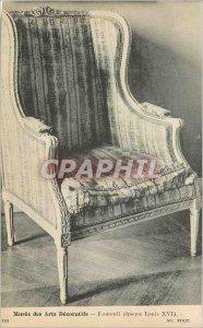 Old Postcard Musee des Arts Decoratifs Armchair (Louis XVI)