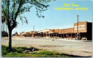 Wickenburg, Arizona Postcard OLD TOWN Downtown Street Scene c1960s Chrome