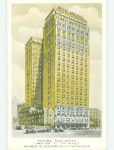 Unused 1930's ADELPHIA HOTEL Philadelphia Pennsylvania PA hr9887
