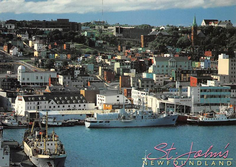 Canada St. John's New Foundland Ships Schiff Boats General view