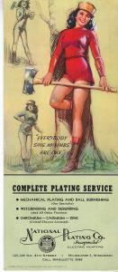 Girlie Blotter 1944 - Lumber Jill - Signed Munson