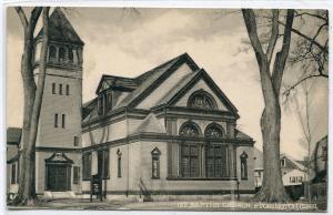 First 1st Baptist Church Stonington Connecticut postcard