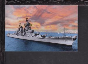 USS New Jersey,Battleship Postcard