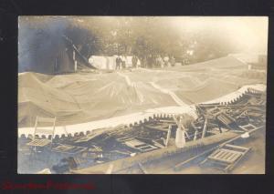 RPPC KEOKUK COUNTY IOWA CHAUTAUQUA TORNADO DISASTER OLD REAL PHOTO POSTCARD