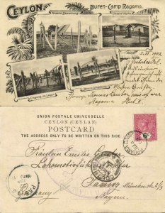 ceylon, Ragama POW Camp BOER WAR 1902 Sent by Prisoner 2802 Thomas Lauber Censor