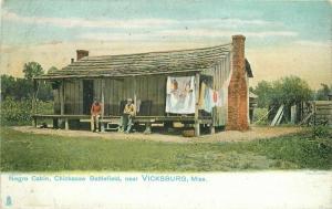 Chickasaw Battlefield Negro Cabin Vicksburg Mississippi C1906 Postcard Tuck 5687