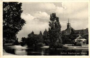 CPA Delfzijl Raadhuis met Voliére NETHERLANDS (728354)