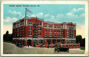 Excelsior Springs, Missouri Postcard HOTEL SNAPP Street View c1920s Unused