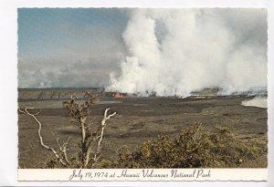 July 19, 1974, Hawaii Volcanoes National Park, unused Postcard