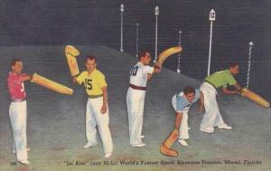 Jai Alai PLayers At The Biscayne Jai Alai Fronton Miami Florida