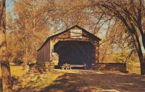 The St.Mary's River Covered Bridge, Illinois,40-60s