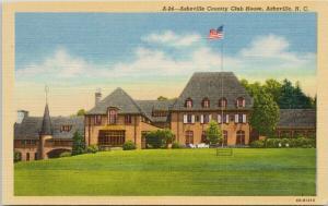 Asheville Country Club House Asheville NC North Carolina Unused Postcard E42