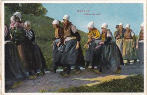 Netherlands Marken Women In Traditional Costume