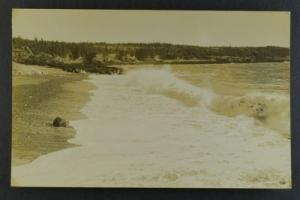 Surf At Deep Cove NB circa 1930s RPPC