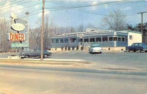 Peabody MA Bel-Aire Diner US 1 Old Cars 2 Postcard