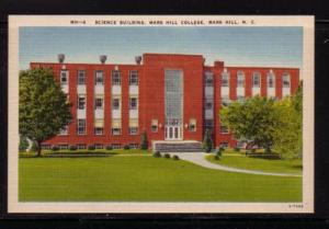 North Carolina postcard Science Bldg Mars Hill College