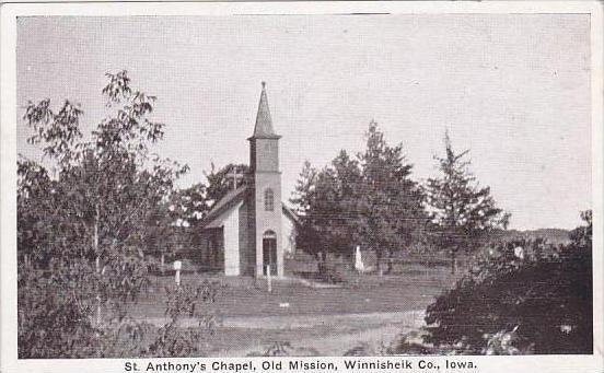 Iowa Winnisheik Saint Anthonys Chapel Old Mission