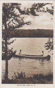 Canoeing Livingston Manor White Roe Lake New York Albertype