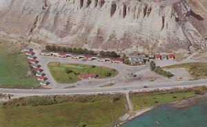 Aerial view,  Mount Chapaka Autocourt,  Penticton,  B.C.,  Canada,  40-60s