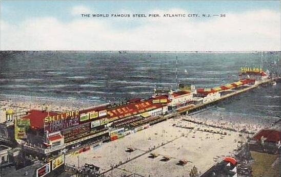 New Jersey Atlantic City The World Famous Steel Pier