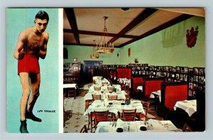 Philadelphia PA-Pennsylvania, Lew Tendler, Boxing, Restaurant, Chrome Postcard