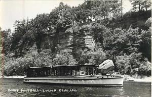 Giant Football at Lower Dells Wisconsin WI Real Photo