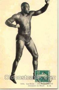 Jack Johnson Boxing Postcard Postcards  Jack Johnson
