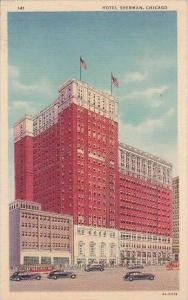 Illinois Chicago Hotel Sheman 1939