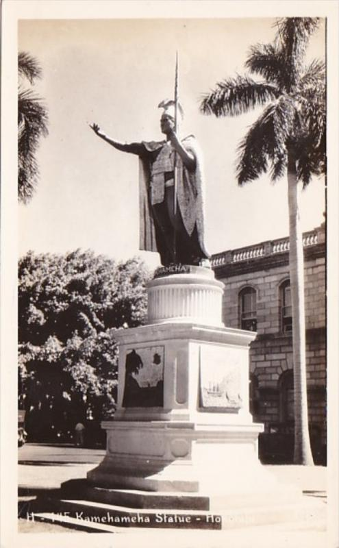 Hawaii Honolulu King Kamehameha Real Photo