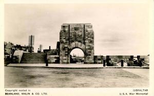 Gibraltar - U.S.A. War Memorial - RPPC