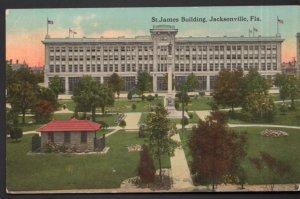 Florida JACKSONVILLE St. James Building - Divided Back