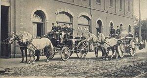C.1896-1906 Rare! Reading PA Liberty Fire Co. Horse Drawn Apparatus. Unused A19