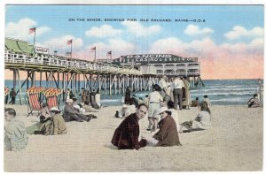Old Orchard, Maine, On The Sands, Showing Pier
