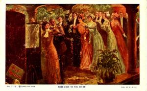 Greeting - Good Luck to the Bride  -  Artist Signed: Alfred James Dewey