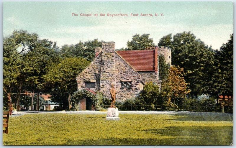 East Aurora, New York Postcard The Chapel at the Roycrofters c1910s Unused