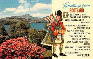 Greetings from Scotland Pipes Scotland, UK 1977