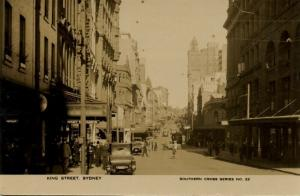 australia, SYDNEY, King Street, Cars (1930s) Southern Cross Series 22 RPPC